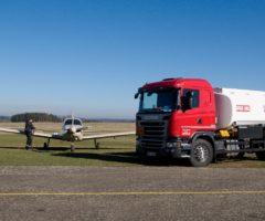 Plnění leteckého paliva AVGAS 100LL přímo z cisterny Twin trans