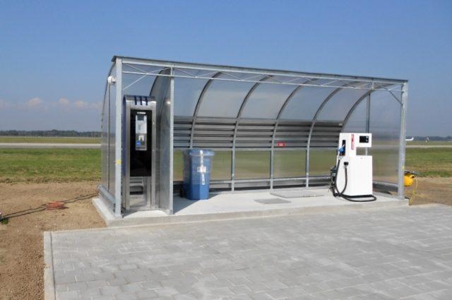 Letištní čerpací stanice na letišti Ostrava – Mošnov